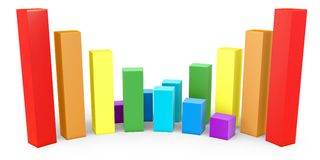 3d graph diagram bars Royalty Free Stock Images