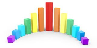 3d graph diagram bars Stock Photos