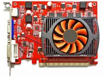 3D graphic card Royalty Free Stock Photos
