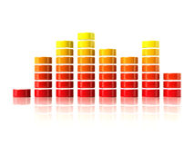 3D graphic equalizer Stock Photo