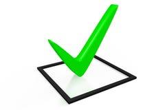 3d graphics, check mark, correct, checklist, green Royalty Free Stock Image
