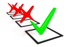 3d graphics, check mark, correct, checklist, green Royalty Free Stock Photo