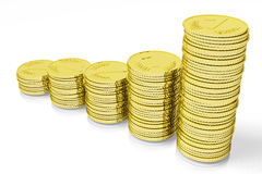 3D graphics, metaphor, money, pile, coins, growth, Stock Photography