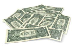 3D graphics, money, dollar bills, wealth, stack, r Royalty Free Stock Images