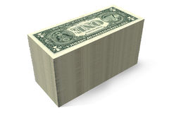 3D graphics, money, dollar bills, wealth, stack, r Royalty Free Stock Photography