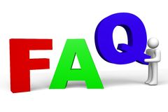 3D graphics, questions, metaphors - faq Stock Image
