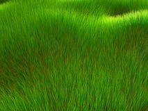 3D gras geeft terug stock illustratie