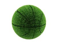 3d grass basketball. 3d grass ball. Recycle concept Royalty Free Stock Images