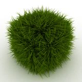 3D Grass Cube Stock Photo