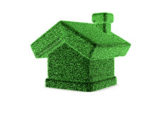 3d grass house. 3d green grass house on white background royalty free illustration