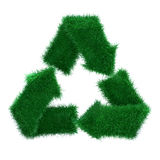 3d grass recycle Stock Image