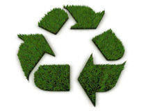 3D grass recycle symbol Royalty Free Stock Images