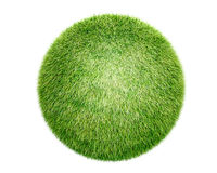 3D grass sphere Stock Images