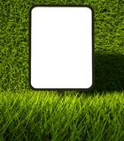 3d grass texture, blank advertising billboard Royalty Free Stock Photo