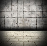 3D Gray Brick wall background beam light design te Stock Photography