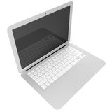 3D gray laptop isolated on white Stock Photography