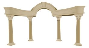 3D Greek arch and column vector illustration