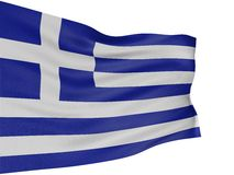 3D Greek flag Royalty Free Stock Photo