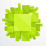3d green abstract background Stock Photos