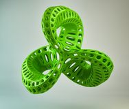 3d green abstract shape Royalty Free Stock Photo