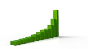 3D green chart Stock Images