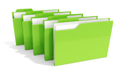 3d green dossier on white background Stock Photo