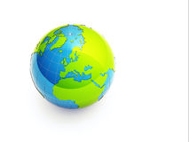 3d green earth Stock Photo