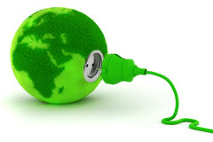 3d green energy concept Stock Photography