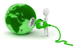 3d green energy concept Royalty Free Stock Photo
