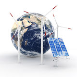 3d green energy concept Stock Images