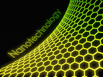 3D green fluorescent graphene structure Royalty Free Stock Images