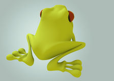 3D green frog Royalty Free Stock Image