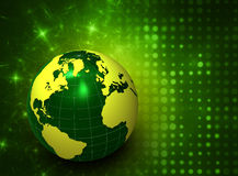 3d green globe Stock Photo