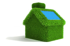 3d green grass house Royalty Free Stock Photo