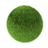 3D green grass sphere Royalty Free Stock Images
