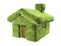 3D Green House Stock Photo