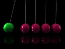 3d green pink pendulum Stock Image
