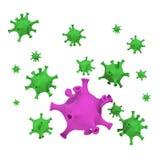 3D green and pinkish blobs Stock Photos
