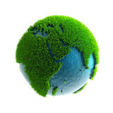 3D green planet Africa Stock Photos