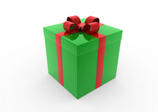3d green red gift box Royalty Free Stock Images