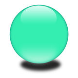 3d green sphere Royalty Free Stock Image