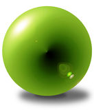 3D green sphere Royalty Free Stock Photo