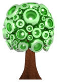 3D green tree Royalty Free Stock Image