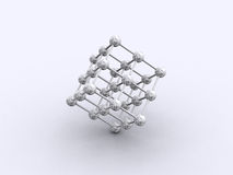 3D grid. Stainless steel ball Molecular Structure vector illustration