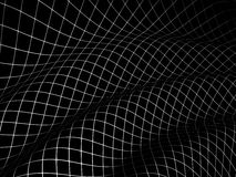 3D grid covered black surface Stock Images