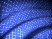 3D grid covered blue curved surface Royalty Free Stock Photos