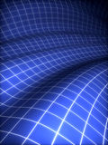 3D grid covered blue surface Royalty Free Stock Photography