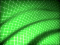 3D grid covered green curved surface Stock Photo