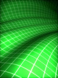 3D grid covered green surface Royalty Free Stock Images