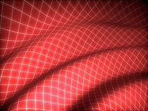 3D grid covered red curved surface Stock Photos